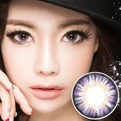 Lentilles de Contact Violet Color Contact Circle Lenses DIA14.5mm VaV a1