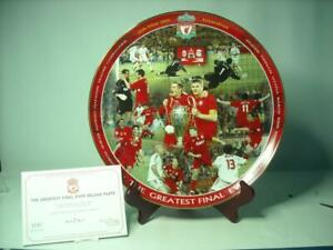 Danbury-Mint-THE-GREATEST-FINAL-EVER-12-034-Liverpool-Football-Club-Plate-Stand-COA