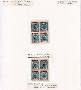 Memel-Nr-130-Studie-auf-3-Albenseiten-in-Einheiten-mit-Plattenfehler-C0191