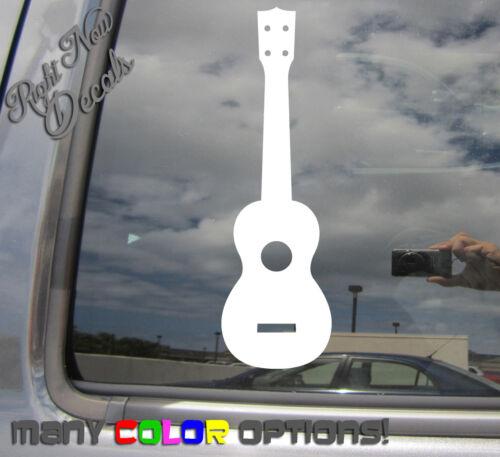 Ukulele String Instrument Hawaii Guitar Car Bumper Vinyl Decal Sticker 05036