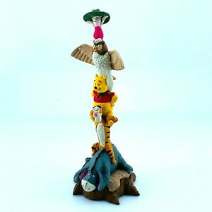 Disney-Winnie-the-Pooh-amp-Friends-Totem-Pole-Eeyore-Tigger-Piglet-Resin-Statue