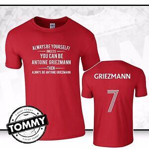 innovative design b001f e8ac0 Details about Atletico Always Be... Griezmann T-Shirt France Ath Madrid  Griezmann T-Shirt