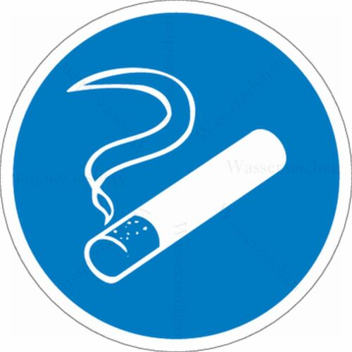 15cm!Aufkleber-Wetterfest!Rauchen erlaubt Raucherzone bitte draußen 453