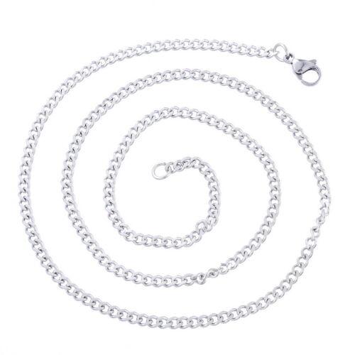 PD 1 Edelstahl Kette Halsschmuck Halskette 52cm Silberfarbe