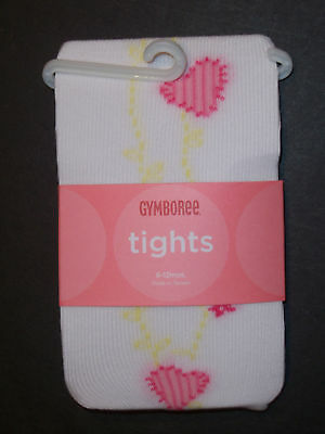 Gymboree Cozy Valentine Ivory Red Heart Tights NWT Size 3-6,6-12 Months U PICK