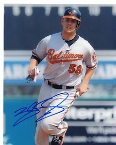 BRANDON  SNYDER   ACTION  BALTIMORE  ORIOLES  SIGNED  AUTOGRAPHED 8X10  PHOTO