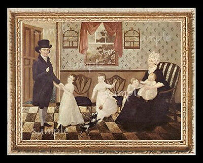 Folk Art  Miniature Dollhouse Doll House Picture