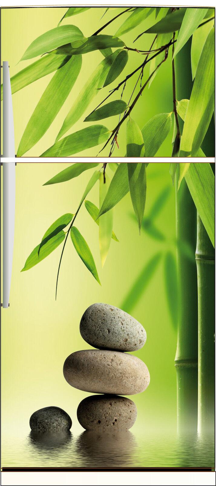 Adesivo Frigo Elettrodomestici Decocrazione Cucina Sassi Bambù 70x170cm Ref 537