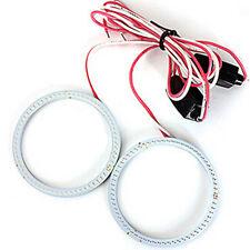1*White 110MM COB LED Angel Eyes Headlight Halo Ring Warning Width Lamp 12V/24V