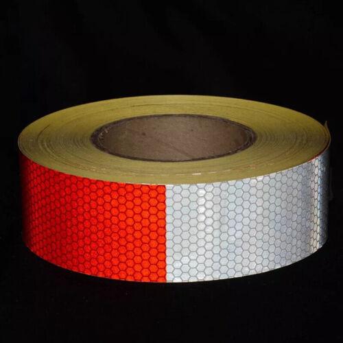 Red /& Silver High Intensity Reflective Tape Self-Adhesive Vinyl  5cm×10 Meter