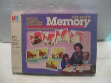 A Vintage Advanced Step By Step Memory Card Game 1986 From Milton Bradley  gm193