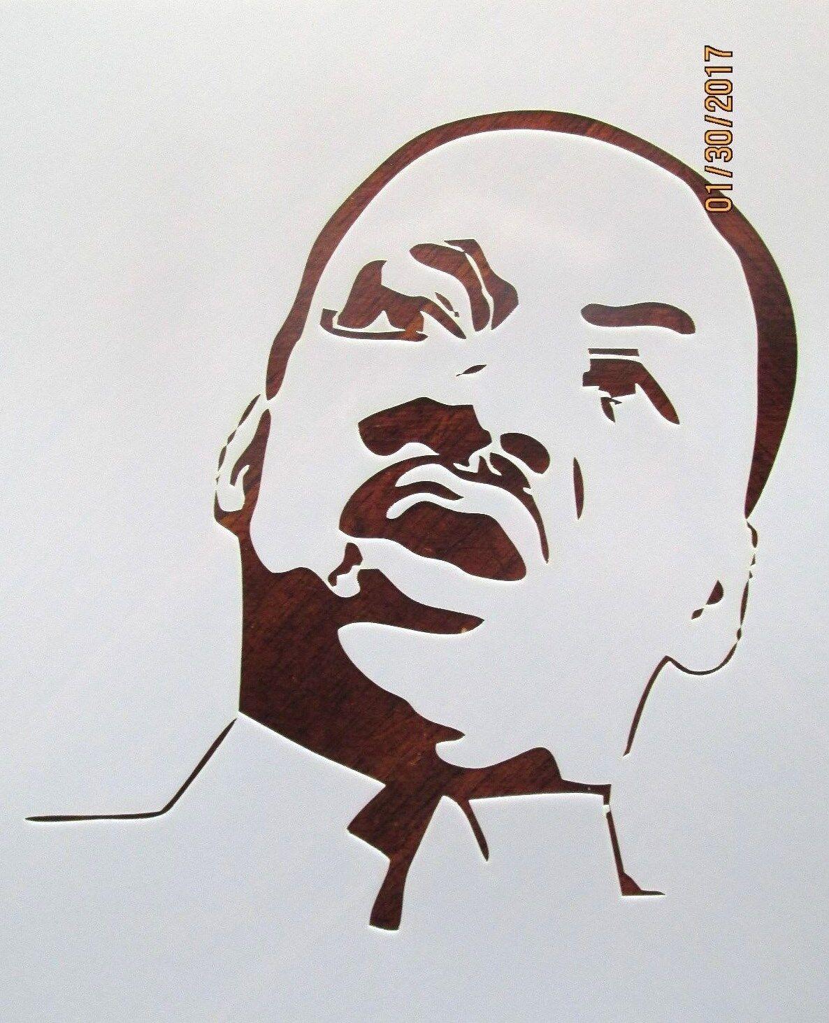 Stencil Reusable 10 mil Mylar Stencil Martin Luther King Jr