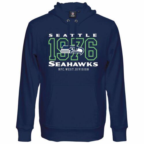 NFL Seattle Seahawks Felpa con Cappuccio da Uomo S M L XL con cappuccio Top Ufficiale Team Apparel