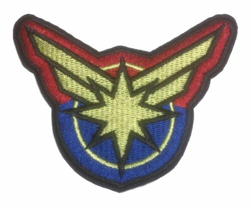 Captain Marvel Cut Out Themed Embroidered Iron On Patch