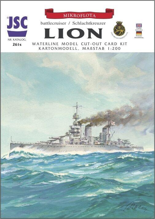 Battleship   Lion   1 200 without   with Lasercut Parts Jsc 261s