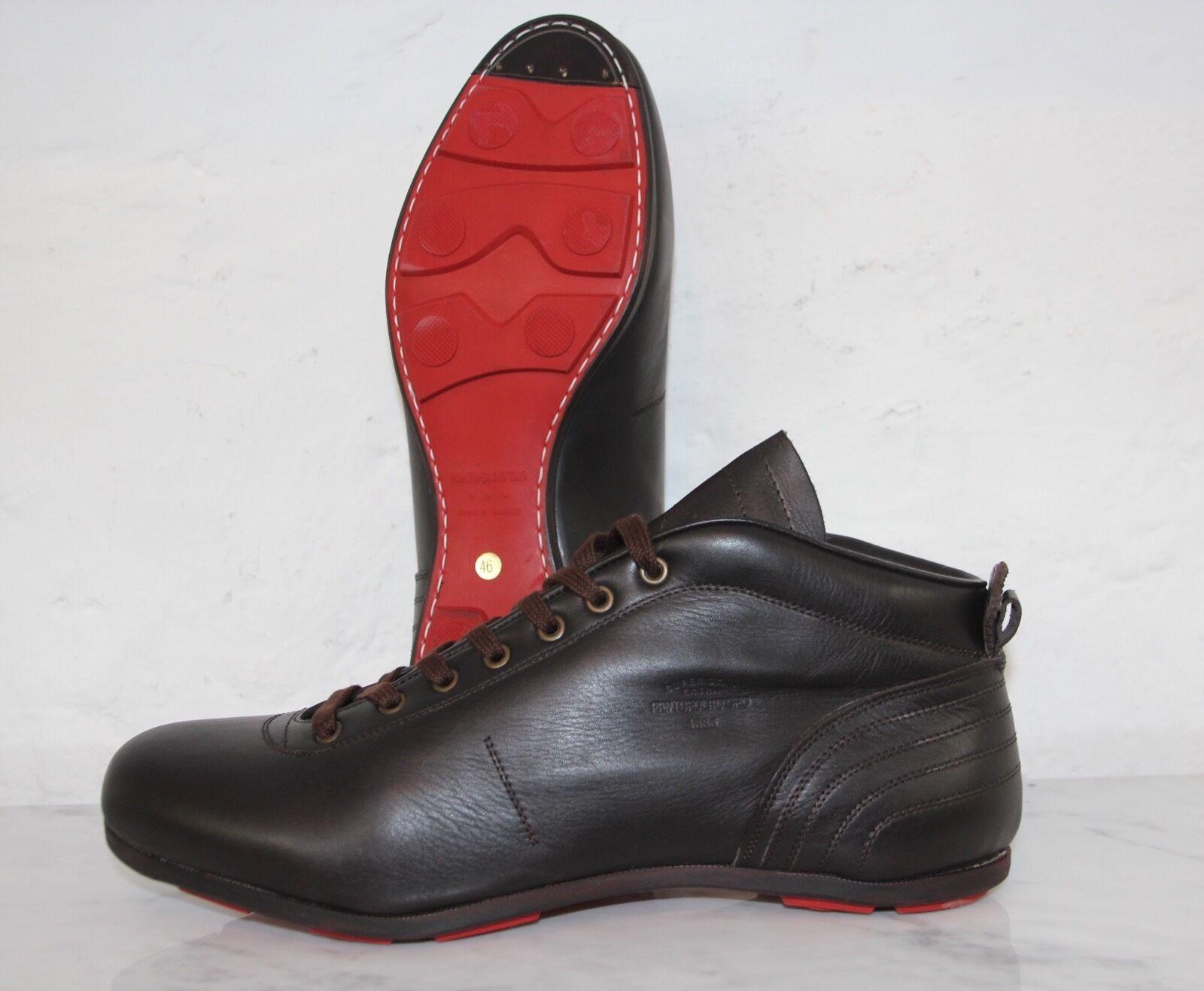 ☆ PANTOFOLA D´ORO PDO Sneaker SL19U Leder braun super Star extra Gr.44 OVP