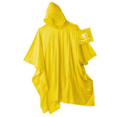 Emergency: Impermeabile con cappuccio ripiegabile giallo