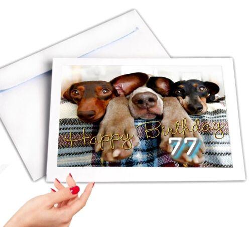 DigitalOase 77 Geburtstag Glückwunschkarte Geburtstagskarten #055