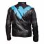 Nightwing pelle Sale Giacca Stylish Dick Grayson Superhero Xmas di qgB1awC