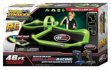 MaxTraxxx Tracer Racers Remote Controlled High Speed Infinity Loop Track Set