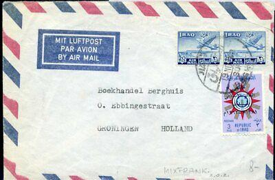 Hell 426076 Irak Luftpostbrief 1962 In Die Niederlande Flugpostmarken