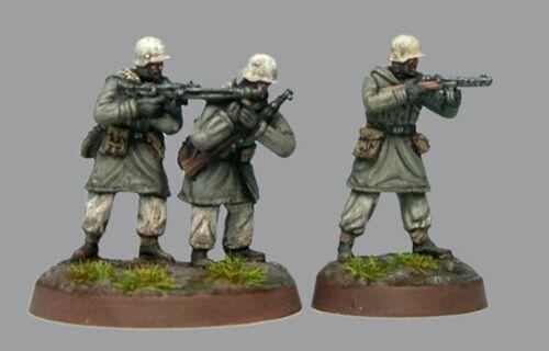 TQD GSK01 20mm Diecast WWII German Kharkov SS Grenadiers Hunkering MG42 Team