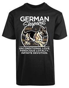 German-Shepherd-New-Mens-Shirt-Unconditional-Love-Ferocious-Loyalty-Infinite-Tee