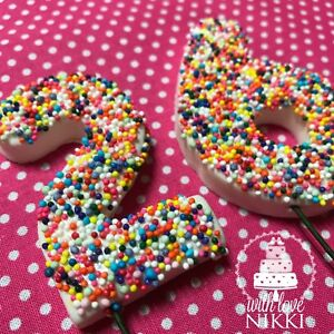 Rainbow Sprinkles 3d Number Wired 6 5cm Large Edible Icing Fondant
