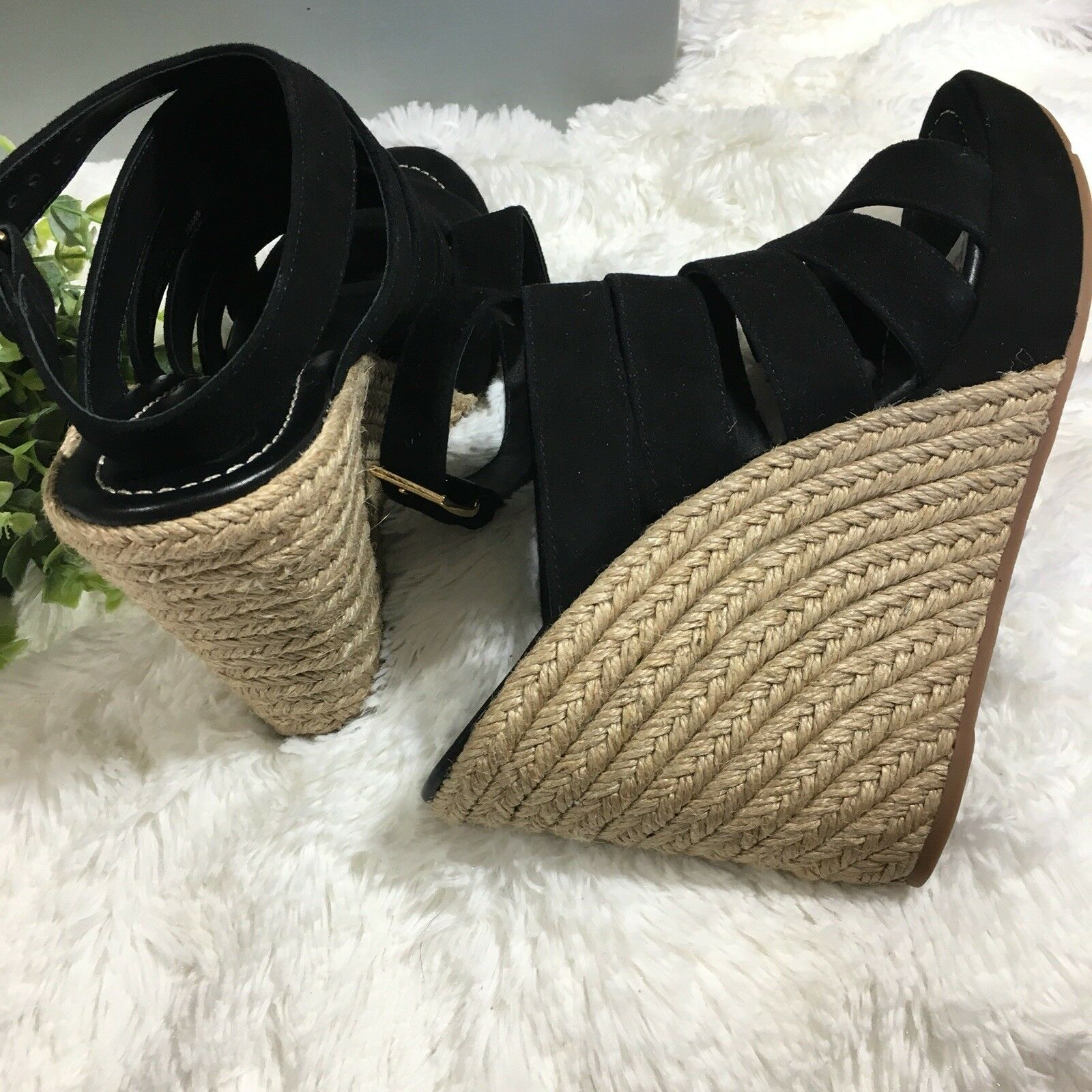 Tory Burch Bailey Multi Multi Multi Steal Wedge Espadrille Sandals Dimensione 10.5 Retail  358 93a4ac