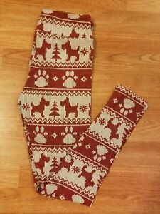 294a00792dd78 Image is loading LuLaRoe-OS-Leggings-Scottie-Dog-Merry-Bright-Christmas-