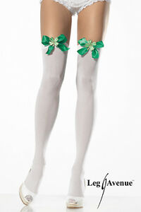 d7429b8ac LEG AVENUE LUCKY CLOVER St Paddy s Day Thigh Highs Stockings with ...