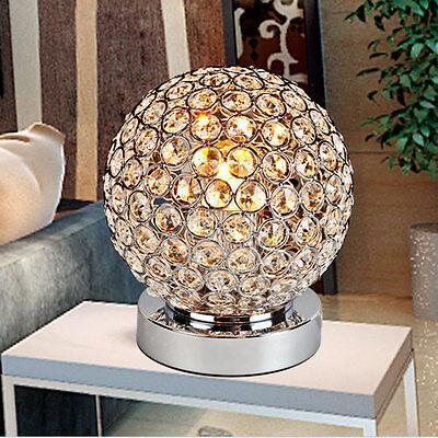 Table Lamp Luxury Crystal Ball Room Home Classy Decor Desk Office Light