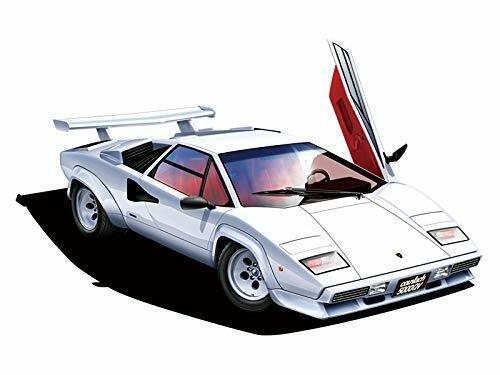 Aoshima 1//24 The Super Car Series No.9 1985 Lamborghini Countach JAPAN 26e