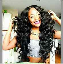 "Brazilian 100% Human Hair Lace Front Wig,130 Density 16"" Body Waves/Loose Waves"