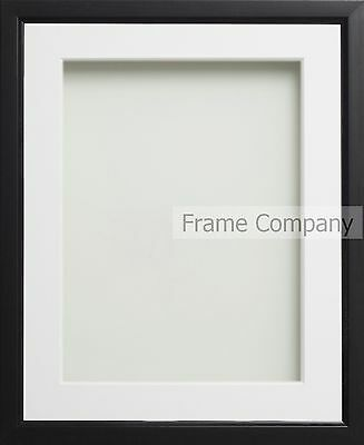 Black or Walnut Effect Picture Photo Frames With Choice of  Mount Colours
