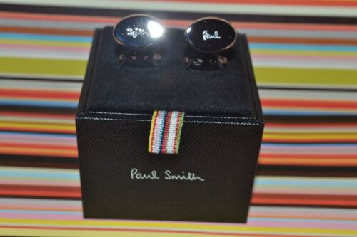Paul Smith PS ENGRAVED LOGO Cufflinks Brand New