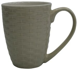 Set-of-4-New-Bone-China-Large-Rattan-Style-Coffee-Mugs-Cream-340ml-Capacity