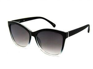 Jessica Simpson J5823 Vintage Rectangular Sunglasses. Black-Crystal / Gray #71G