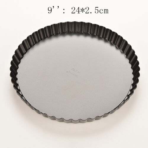 1 X Pie Cake Tart Removable Non-Stick Bottom Baking Pastry Mold Pan Tray new~
