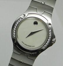 Womens Swiss Movado Diamond Bezel SE Sports Edition Mother Of Pearl Dial Watch