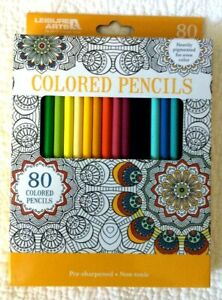 Colored Pencils Set of 80 Colors Leisure Arts Coloring ...