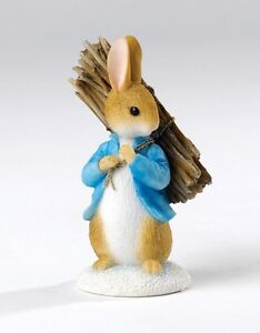 Beatrix-Potter-Peter-Rabbit-Carrying-Sticks-NEW-Figurine-in-Box
