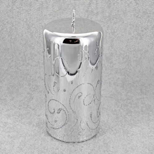 Silver Sparking Candles By G Decor