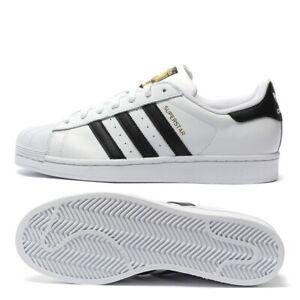 ADIDAS SUPERSTAR C77124 BIANCO NERO Sneakers Scarpa