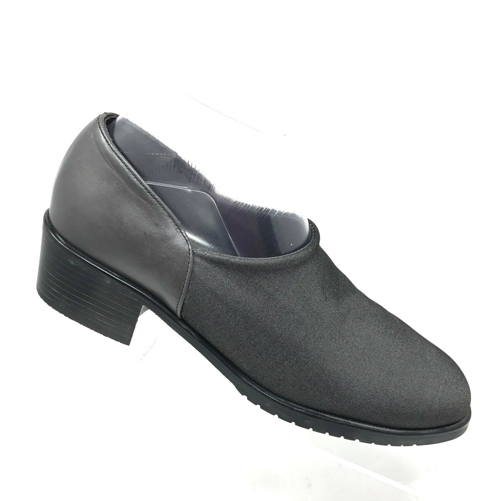Munro STRAND II Slip On Heel Gray Stretch Fabric Leather Heel On Womens Shoe SIZE 8 M 492581