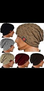 ff6aa3936b0e5d Gray Modern Soft Womens/Mens Solid Beanie Knitted Ski Cap Skull Hip ...