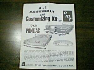 AMT-034-1960-Pontiac-Convert-034-Original-3-in-1-Model-Car-Instruction-sheet-from1960