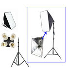 Continuous Lighting Kit Softbox 50 x70cm + 4in1 E27 Lamp Head +195cm Light Stand