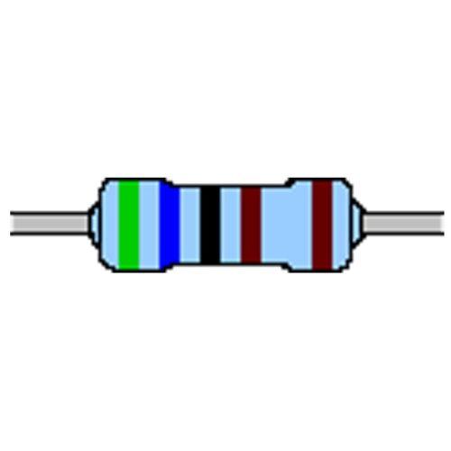 Metallschicht-Widerstand 5,6 kOhm 1/% 0,6W Bauform 0207 gegurtet
