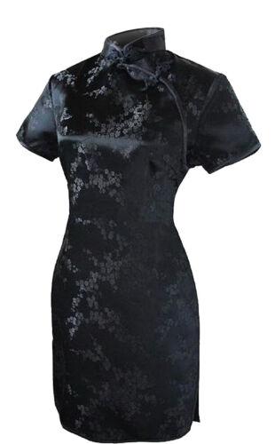 UK Stock Chinese Short Mini Vintage Evening Party Fancy Dress Qipao Cheongsam
